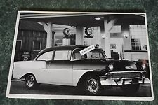 """12 By 18"""" Black & White Picture 1956 Chevrolet """"150"""" 2 Door"""