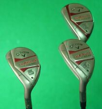 LH Callaway Diablo Edge Hybrid 3, 4 & 5 Irons Factory H-60G Graphite Regular