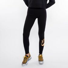 Nike 154213 Women's Sportswear Metallic Leggings Black Sz. XL