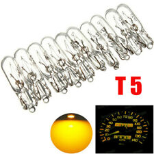 10 MINIATURE CAPLESS CAR DASHBOARD DASH LIGHT BULBS 12V 2W FOR T5 286 AMBER NEW