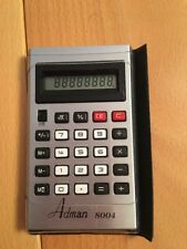 Vintage Adman 8004 Calculator Tested Working nice little calculator RARE
