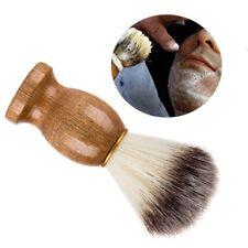 1x Men Shaving Bear Badger Hair Brush Shave Wood Handle Barber Tool Face Cleaner