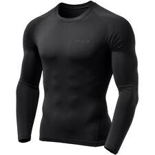 TSLA Tesla MUD01 Cool Dry Long Sleeve Compression Shirt - Black/Black