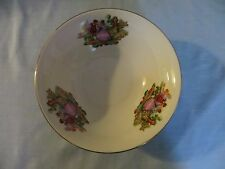"Liling China Fine Serving Bowl ""Courting Couple"" gold trim  9""  EC"