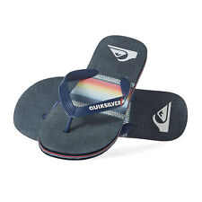 Quiksilver Molokai Sun Faded Mens Footwear Flip Flops - Blue Black All Sizes