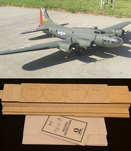 "77"" Ws B-17F FLYING FORTRESS R/c Plane partial kit/short kit and plans, PLS READ"
