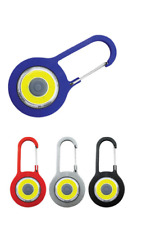 4 pack  Aluminum Assorted Carabiner Key Chain with LED Light Assorted Colors