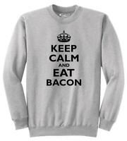 Mens Keep Calm And Eat Bacon Funny Bacon Lover Shirt Sweatshirt Meat Pork Foodie