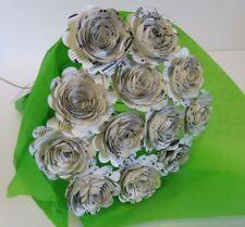 Scallop Sheet Music Paper Flower Bouquet, Table Centerpiece, Wedding Decoration