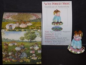NMIB WEE FOREST FOLK LIMITED EDITION SPECIAL EASTER SURPRISE MOUSE M-557c