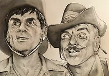 It Ain't Half Hot Mum Original pen Drawing / Painting .Fan-ART A4 Windsor Davies