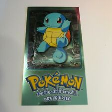 Topps Chrome Foil Card Pokemon TV Animation Edition 2 of 5 Jumbo #07 Squirtle