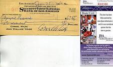CORNEL WILDE ACTOR IN THE NAKED PREY SIGNED CHECK AUTOGRAPH JSA AUTHENTICATED