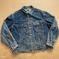 Men's Blue Wash Vintage Lee M.R. Riders Denim Jacket Size 44 / L