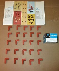 Wholesale lot 25 P5212 Prestolite Silicon Right Angle 8mm Wire Spark Plug Boots