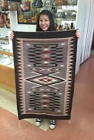 Native american Navajo Handmade Storm Pattorn Design Rug *Rolanda  Segay