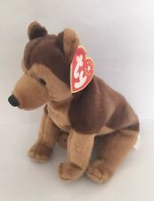 Retired Ty Beanie Baby Dog ~ Courage ~ German Shepherd ~ Right leg flag ~ Nwt