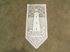 """New White Lace Lighthouse design Wall Hanging 28L""""x12W"""