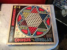 Vintage Ohio Art Co. 2 in 1 Chinese & Regular Checkers in Original Box Tin Board