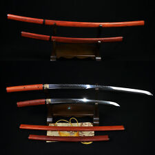 HIGH QUALITY JAPANESE SHIRASAYA SWORD SET ( KATANA + WAKIZASHI) TEMPERED BLADE