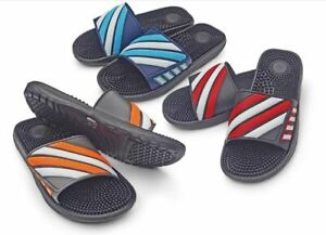 Men's Slip-On Sport Slide Sandal Flip Flop Shower Slipper Summer Spring TPR Sole