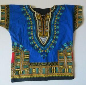 Child Size S Blue African Dashiki Shirt