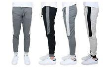 Men's Jogger Sweatpants w/ Side Stripe French Terry Slim-Fit Lounge Gym Sports