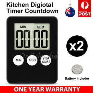 Kitchen Digital LCD Timer Magnetic Countdown Count Down 99 Minute Cooking alarm