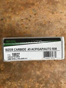 RCBS .45 ACP Carbide Sizer Die 18937