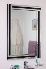 Large Black And Silver Triple Edge Bathroom Wall Mirror 1Ft11 X 2Ft11 60 X 90cm