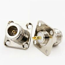 1 x New N Female Jack with 4 Holes Chassis Panel Solder RF Connector high quali