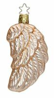 Inge Glas Angel's Wing peachy rose 1-287-15 German Christmas Ornament Gift Box