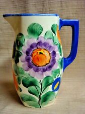 ANTIQUE Hand Painted PITCHER - CZECHOSLVAKIA - Bern Y.U.T.