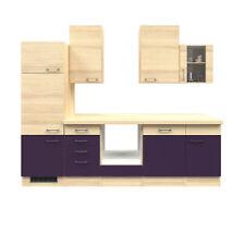Einbauküche ohne Elektrogeräte Küchenzeile ohne Geräte Küchenblock Küche 280 cm
