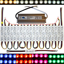 RGB LED Module - Samsung Chip Power Supply - Warm White Cold - 12V -3x 5050 SMD