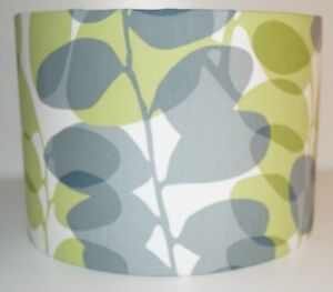 Scion Lunaria Chalk Leaf  and Gull Drum Fabric Lampshade (15 20 25 30 35 40cm)