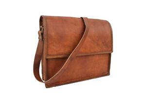 "11"" Vintage Leather Crossbody Messenger Bag iPad/Tab Satchel Handbag Sling Bag"