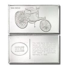 Franklin Mint Classic Cars 1885 Benz 2.125 oz. Sterling Silver Ingot