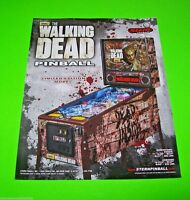 Stern The WALKING DEAD Limited Ed. LE Original NOS Pinball Machine Sales Flyer