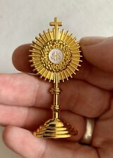 More details for monstrance 6x3cm touched to consecrated host during benediction - catholic relic