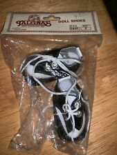 Tallinas Doll Shoes Saddle Shoes w/ tie Laces Black & White Style 2001 Sz 5 new