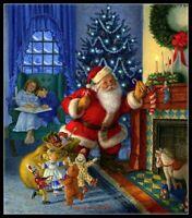 Santa Claus 14 - Chart Counted Cross Stitch Patterns Needlework DIY Christmas
