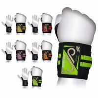 Weight Lifting Bar Straps Gym Bodybuilding Wrist Support Wraps Bandage Knee Wrap
