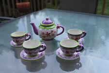 "Miniature Childrens Ceramic Tea Set ""Flowers"" by Burton & Burton"