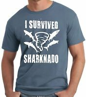 PubliciTeeZ Funny Big and Tall King Size I Survived Sharknado T-Shirt