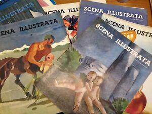 RIVISTA MENSILE  D'EPOCA - SCENA ILLUSTRATA  ANNATA COMPLETA 1940-LEGGI ANNUNCIO