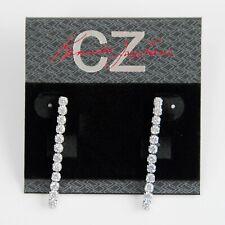 CZ by Kenneth Jay Lane 2 cttw Linear Earrings KE1005 NWT