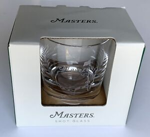 Masters golf shot glass large etched crystal 2021 masters pga new