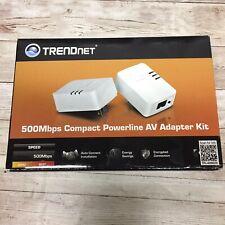 TRENDnet 500Mbps Compact Powerline AV Adapter Kit TPL-406E2K