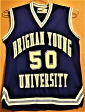 BRIGHAM YOUNG COUGARS #50 WOMENS COLLEGE BASKETBALL Blue JERSEY